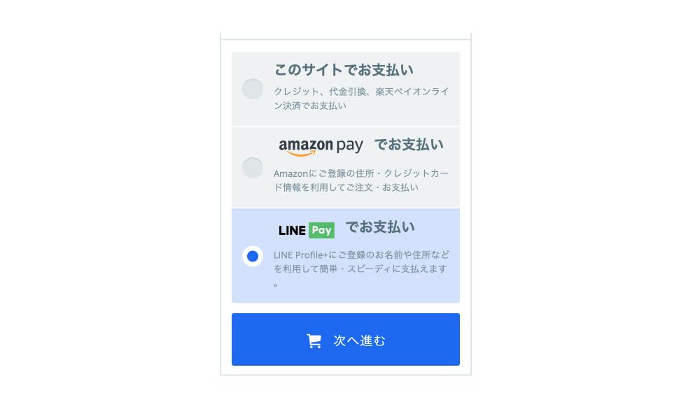 line ペイ 支払い 方法